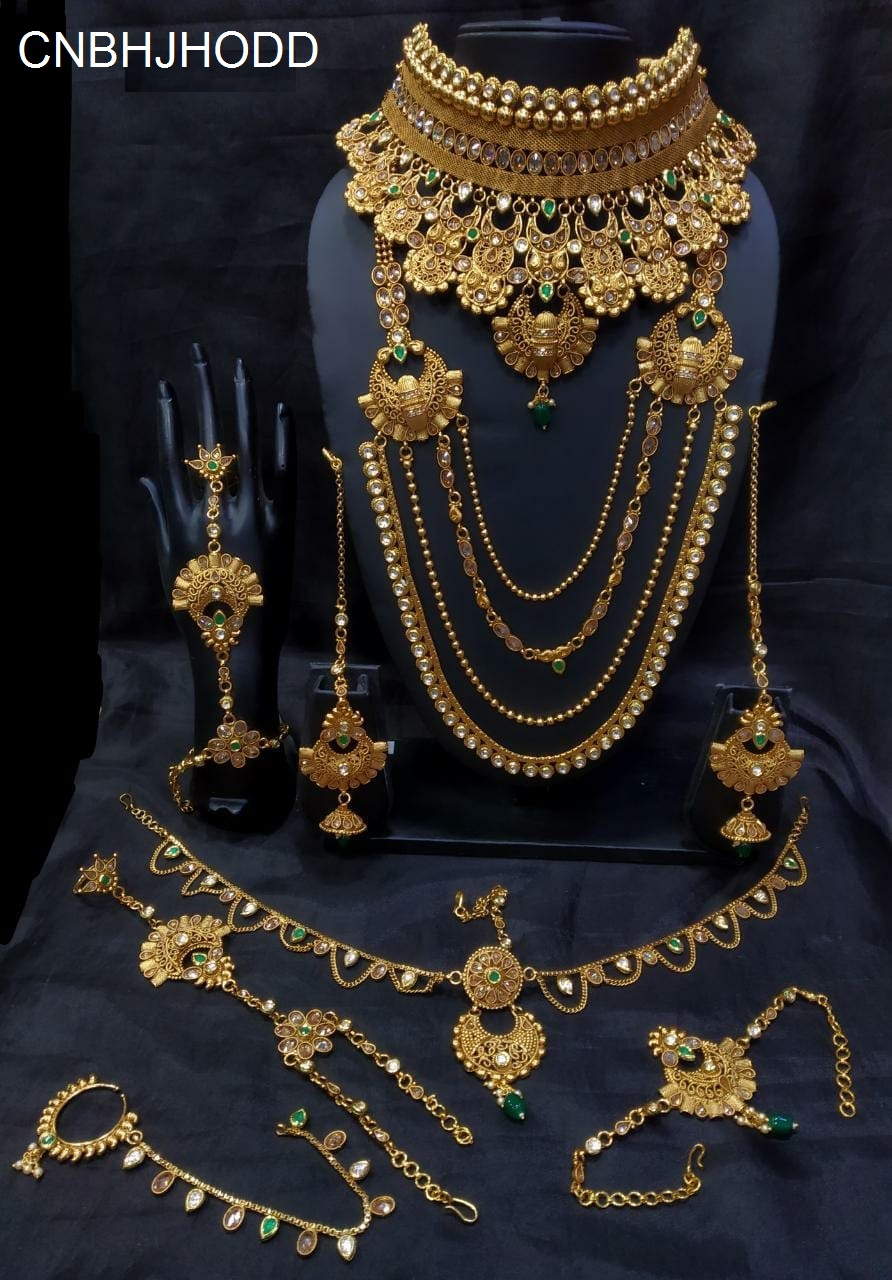 237fe23e1 Indian Bridal Heavy Antique Set Manufacturers Exporter and Wholesalers in  India