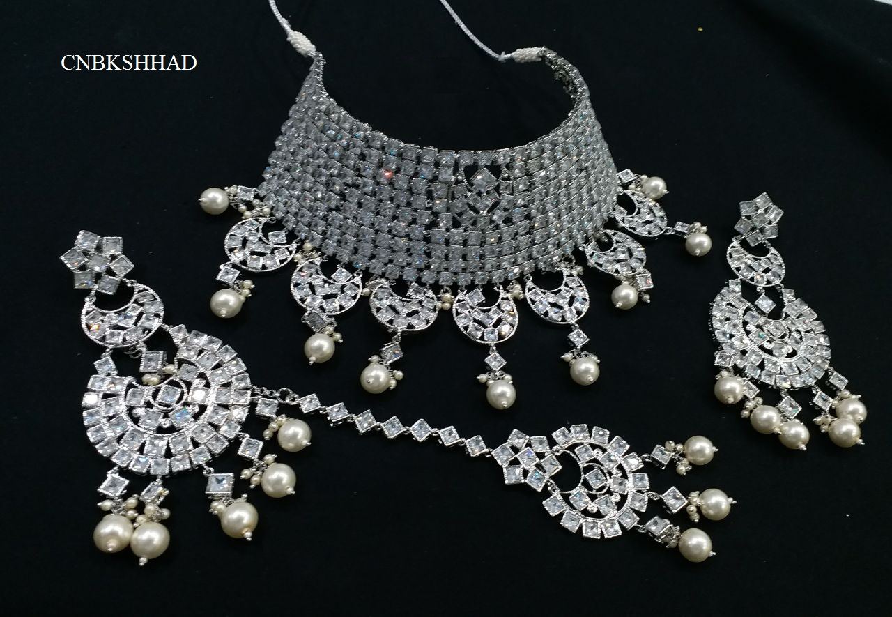 WEDDING SILVER POLKI SET