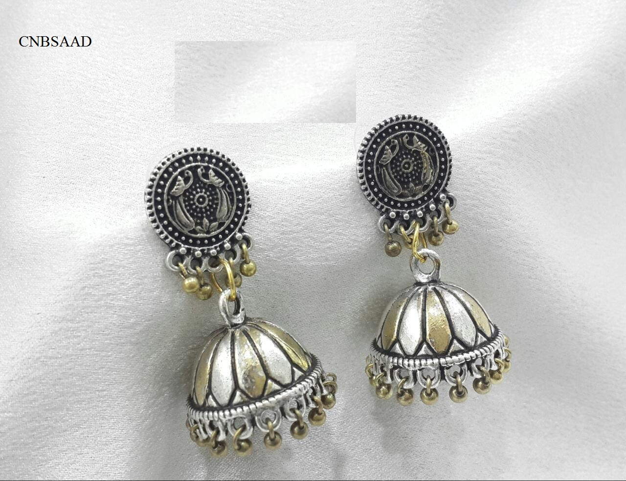 DUAL TONED JHUMKIS
