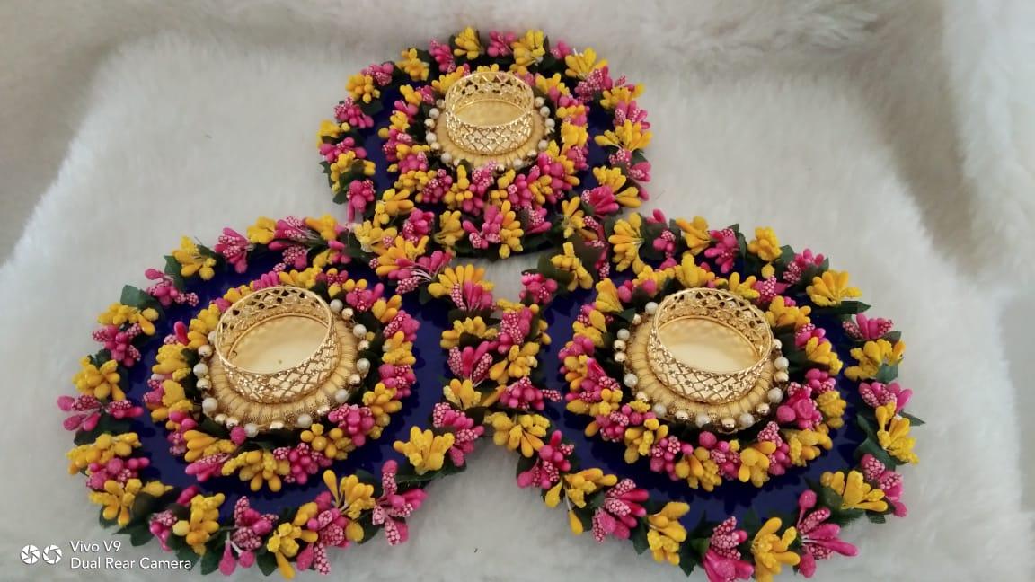 Acrylic Handmade Pollen Diya